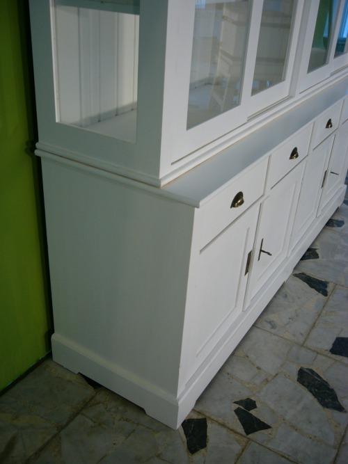 b chervitrine vitrine wei landhaus stil 2 teilig vintage. Black Bedroom Furniture Sets. Home Design Ideas