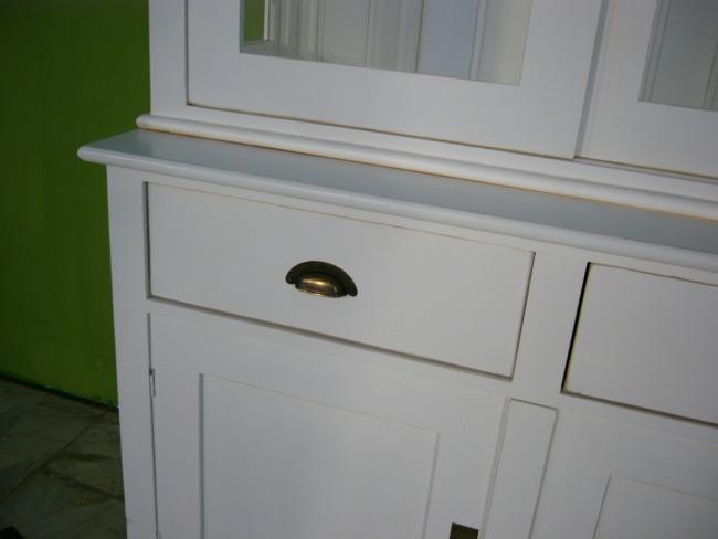 b chervitrine vitrine wei landhaus stil 2 teilig vintage mit schiebet ren nr 192094785917. Black Bedroom Furniture Sets. Home Design Ideas