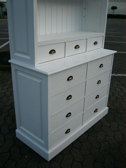 regal apothekerregal im landhaus stil b cherregal nr. Black Bedroom Furniture Sets. Home Design Ideas
