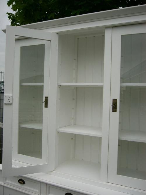 vitrine ladenschrank landhaus stil verkaufsvitrine wei. Black Bedroom Furniture Sets. Home Design Ideas