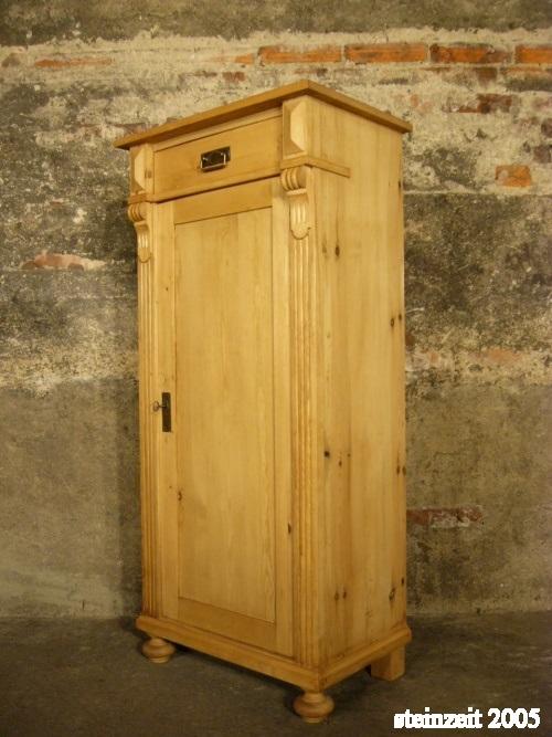 vertiko schmal antik schrank weichholz kommode gr nderzeit um 1900 jhd nr 192112277214. Black Bedroom Furniture Sets. Home Design Ideas