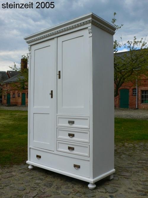 Schrank antik weiss Gründerzeit Super praktisch im Landhaus Stil um 1900 Jhd.