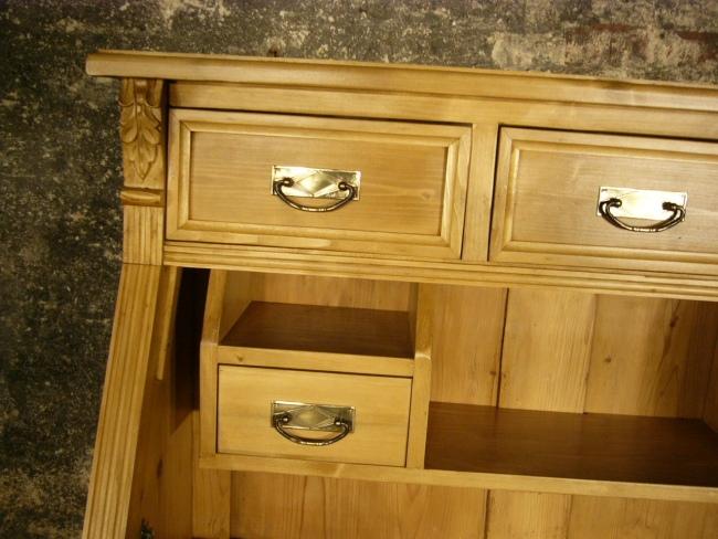 sekret r weichholz schreibtisch gewachst kommode schreib schrank. Black Bedroom Furniture Sets. Home Design Ideas