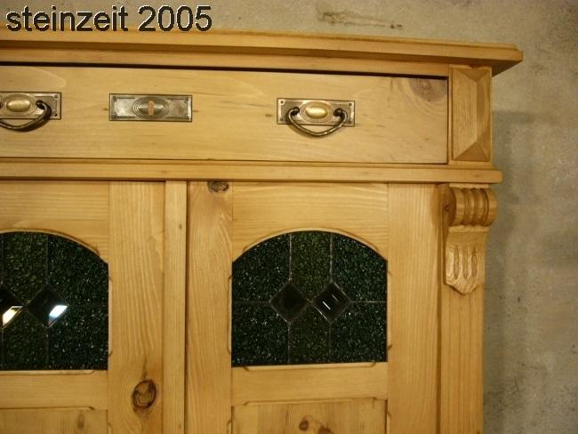 Vertiko antik Bleiglas Gründerzeit ökologisch restauriert um 1900 Jhd