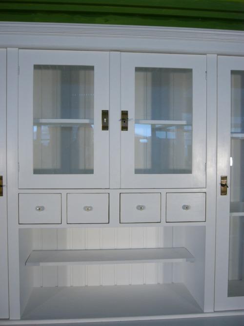 ladenwand wohnzimmer wand vitrine im shabby look nr. 191774997478, Wohnzimmer