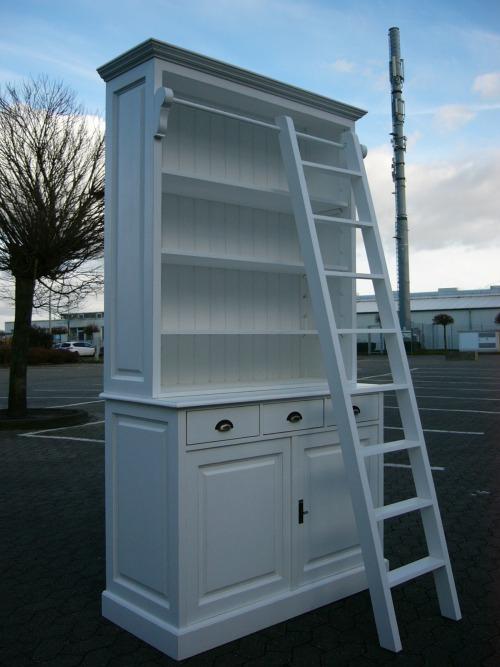Bibliothek Bücherwand Ladeneinrichtung Bücherschrank weiß
