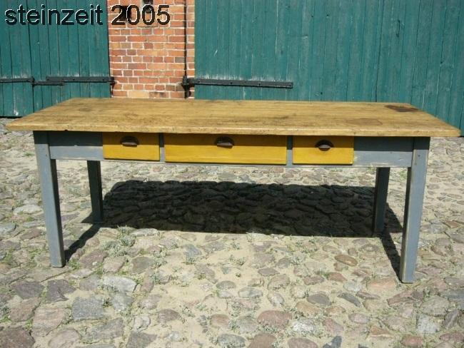 Tisch Gesindetisch antik original Esstisch schöne Patina restauriert um 1900 Jhd
