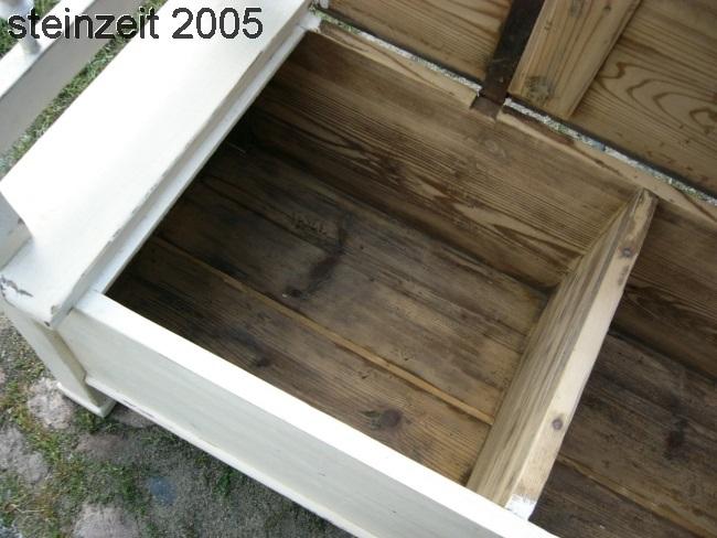 bank truhenbank sitzbank antik original im shabby chic look um 1900 jhd nr 192218382478. Black Bedroom Furniture Sets. Home Design Ideas