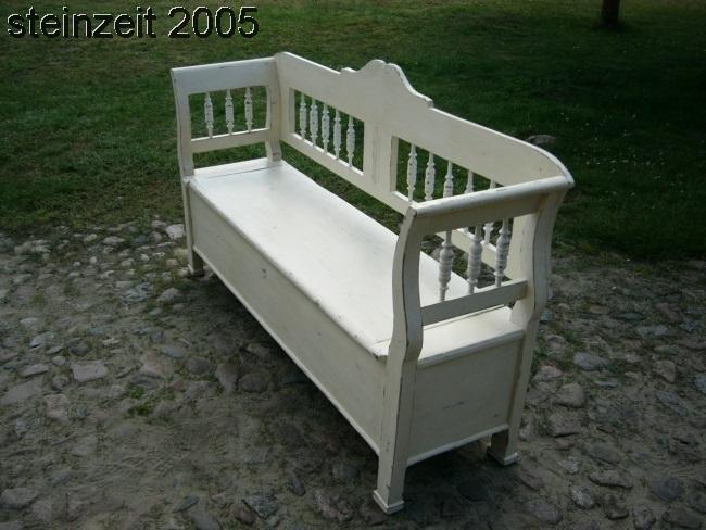 bank truhenbank sitzbank antik original im shabby chic. Black Bedroom Furniture Sets. Home Design Ideas