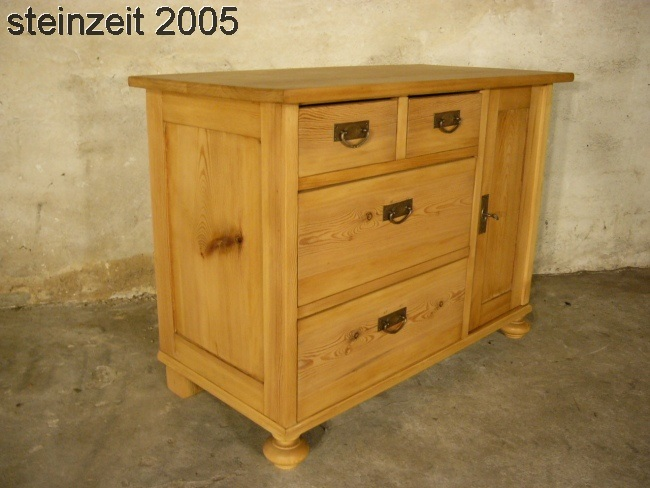 Kommode Weichholz Jugendstil antik Schubladen Schrank um ...