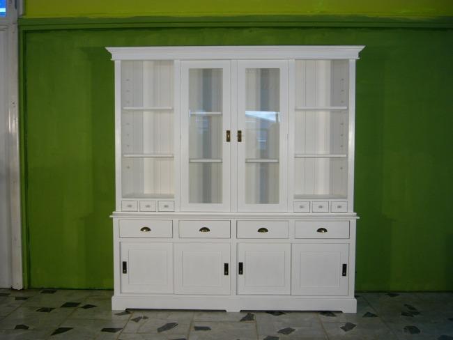 ladenschrank ladenwand ladeneinrichtung b chervitrine wei 250cm nr 401160437641 oldthing. Black Bedroom Furniture Sets. Home Design Ideas