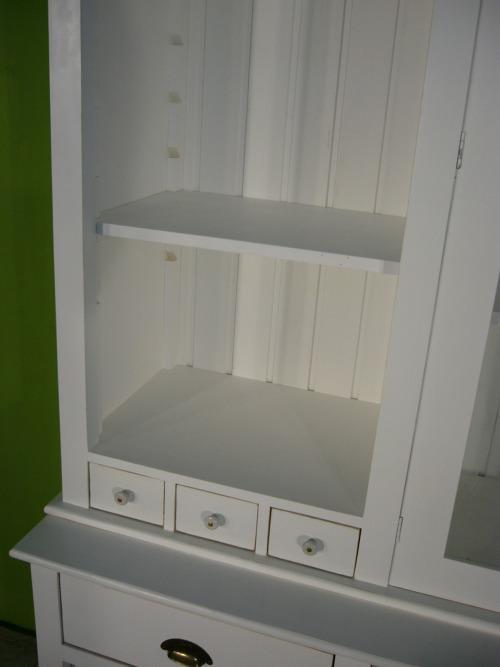 ladenwand verkaufsvitrine schrank buffet wei landhaus nr. Black Bedroom Furniture Sets. Home Design Ideas