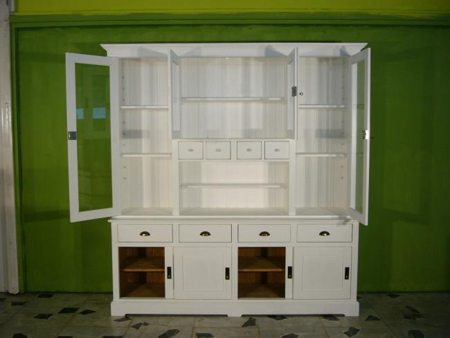 Vitrine Buffet Küchenbuffet weiß Landhaus Vintage Nr. 192142355822 ...