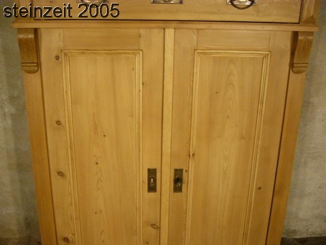 Vertiko Jugendstil Schrank antik Weichholz restauriert um ...