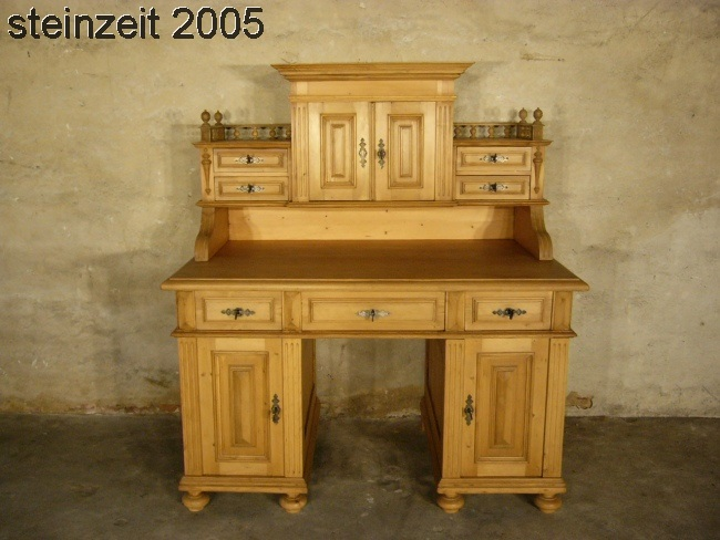 restaurierter art deco schreibtisch aus makassar holz um. Black Bedroom Furniture Sets. Home Design Ideas