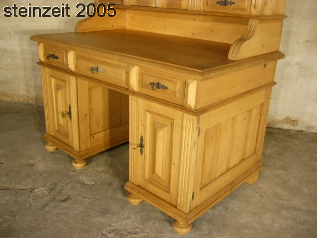 schreibtisch antik gr nderzeit weichholz aus adelsbesitz mit aufsatz um 1880 nr 192292874955. Black Bedroom Furniture Sets. Home Design Ideas