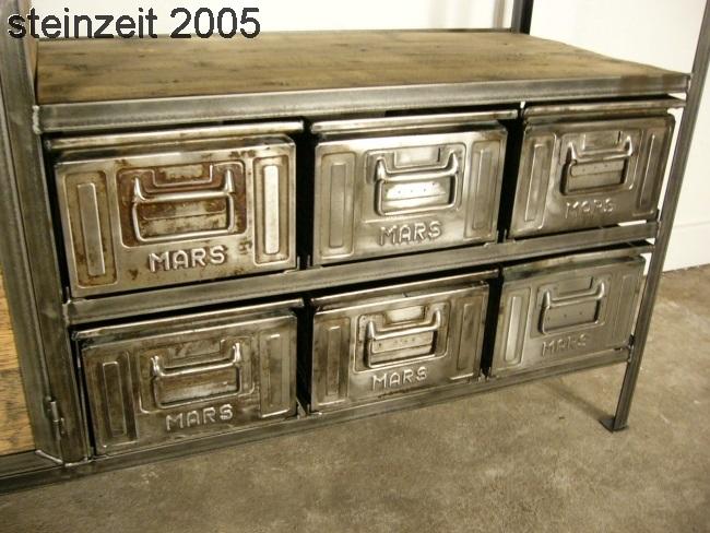 Anrichte Sideboard Eisen Holz Metall Industrie Design Um 1940 Jhd