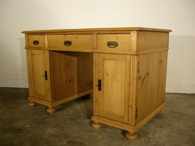 schreibtisch sekret r antik weichholz jugendstil um 1900. Black Bedroom Furniture Sets. Home Design Ideas