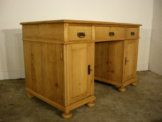 Schreibtisch sekret r antik weichholz jugendstil um 1900 for Schreibtisch jugendstil
