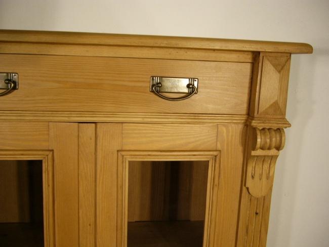 vertiko weichholz gr nderzeit antik vitrine glas schrank. Black Bedroom Furniture Sets. Home Design Ideas