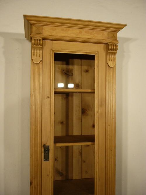 vitrine weichholz antik sehr schmal sammlervitrine um 1900 jhd nr 192372262194 oldthing. Black Bedroom Furniture Sets. Home Design Ideas