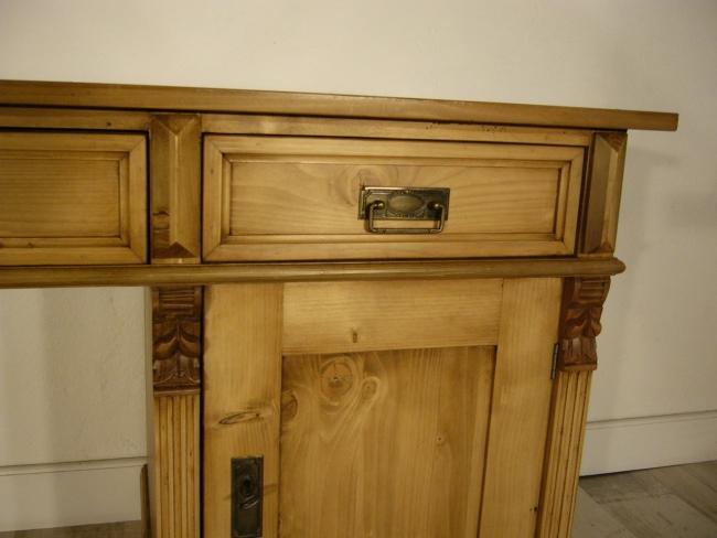 Schreibtisch Weichholz Gründerzeit antik Sekretär Pult um 1900 1