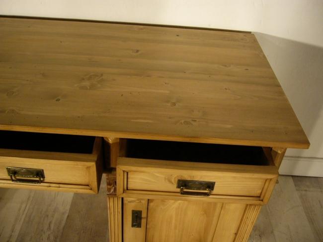 Schreibtisch Weichholz Gründerzeit antik Sekretär Pult um 1900 12