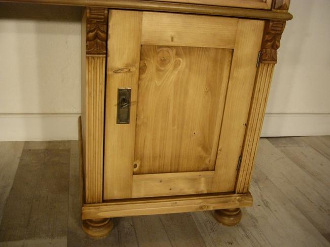 Schreibtisch Weichholz Gründerzeit antik Sekretär Pult um 1900 2