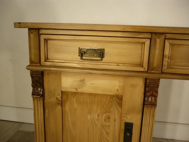 Schreibtisch Weichholz Gründerzeit antik Sekretär Pult um 1900 5