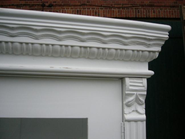 Vitrine Jugendstil weiß antik im Landhaus Stil Schrank Regal um 1900 Jhd. 2