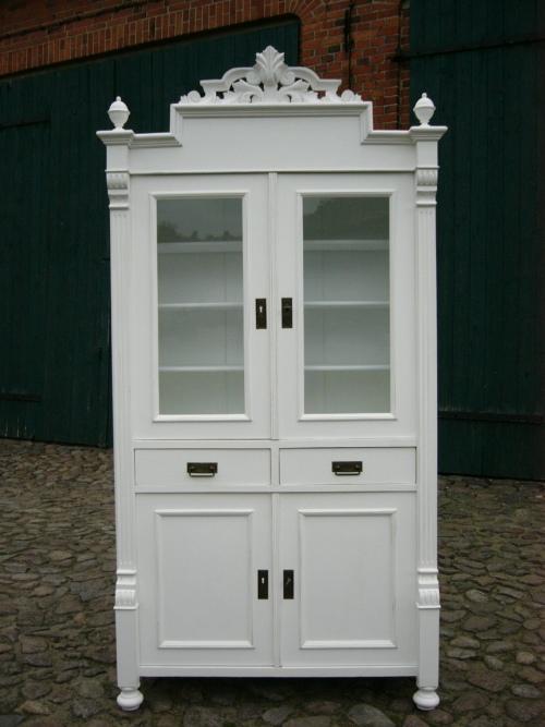 Vitrine Gründerzeit Küche Buffet antik im Landhaus Stil um 1880 Jhd. 0
