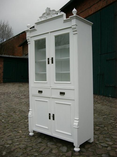 vitrine gr nderzeit k che buffet antik im landhaus stil um. Black Bedroom Furniture Sets. Home Design Ideas