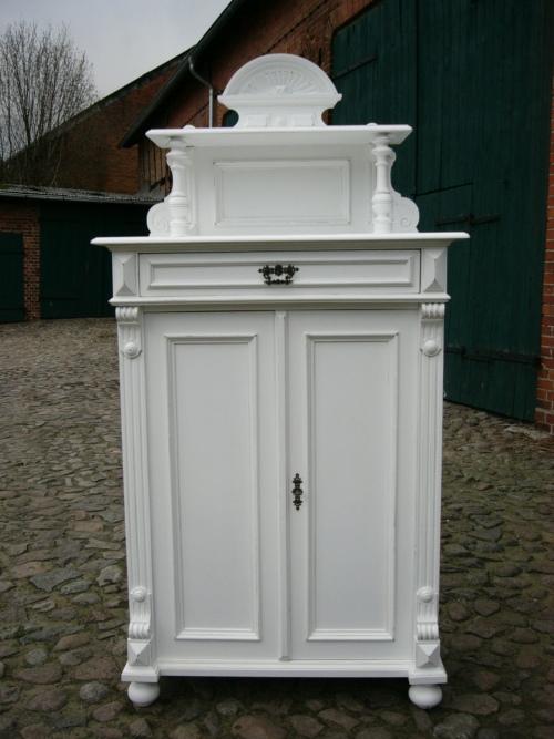 Vertiko Gründerzeit antik Schrank im Landhaus Stil um 1880 Jhd. 1