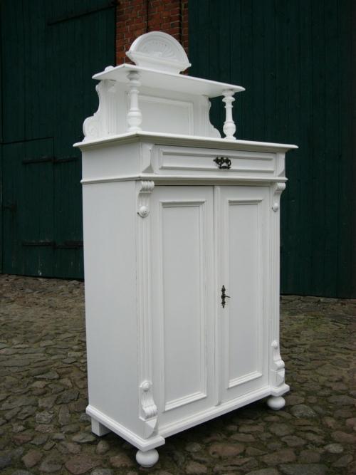 Vertiko Gründerzeit antik Schrank im Landhaus Stil um 1880 Jhd. 12