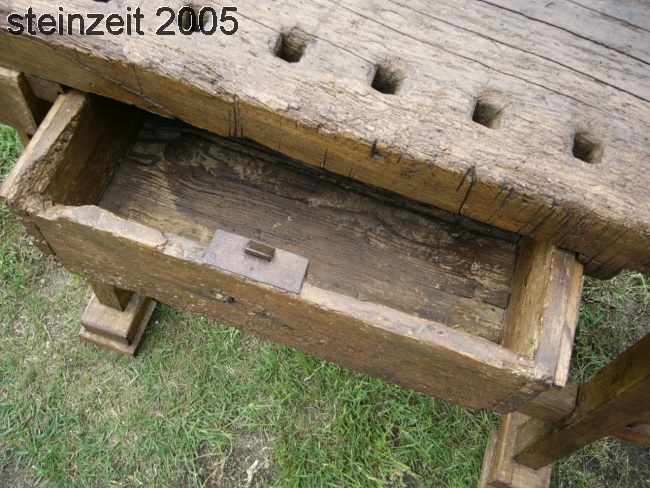 Werkbank Industrie Design um 1900 Jhd. Hobelbank restauriert 12