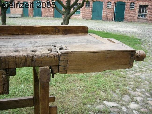 Werkbank Industrie Design um 1900 Jhd. Hobelbank restauriert 7