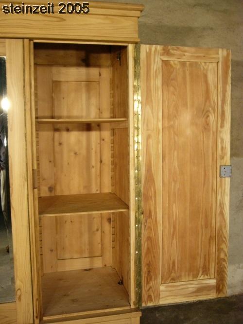 schrank jugendstil antik 3 t rig weichholz zerlegbar mit spiegel um 1900 jhd nr 401456676417. Black Bedroom Furniture Sets. Home Design Ideas