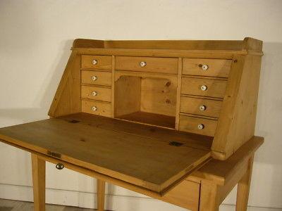Sekretär Jugendstil antik Schreibtisch selten Weichholz Pult um 1900 Jhd.