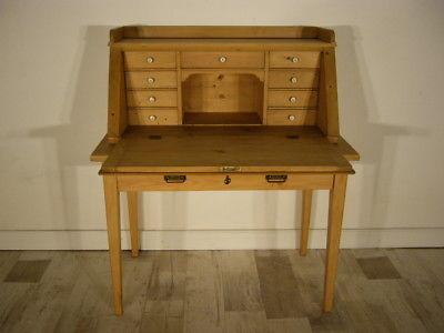 Sekretär Jugendstil antik Schreibtisch selten Weichholz Pult um 1900 Jhd. 1