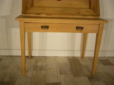 Sekretär Jugendstil antik Schreibtisch selten Weichholz Pult um 1900 Jhd. 11