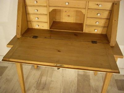 Sekretär Jugendstil antik Schreibtisch selten Weichholz Pult um 1900 Jhd. 7