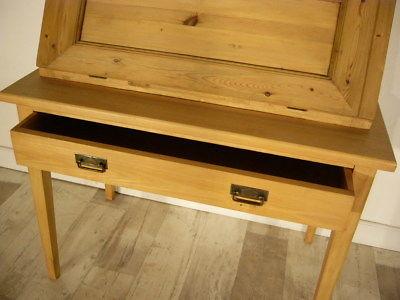 sekret r jugendstil antik schreibtisch selten weichholz pult um 1900 jhd nr 401461719471. Black Bedroom Furniture Sets. Home Design Ideas