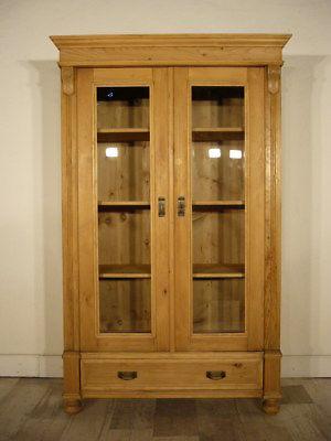vitrine jugendstil antik weichholz schrank b chervitrine. Black Bedroom Furniture Sets. Home Design Ideas