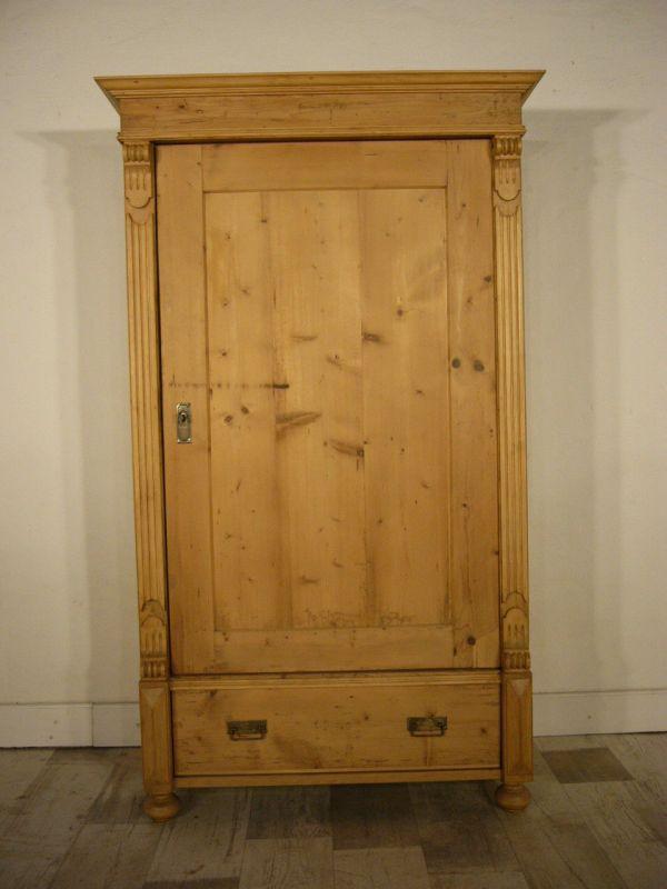 schrank antik kasten 1 t rig weichholz gr nderzeit um 1900. Black Bedroom Furniture Sets. Home Design Ideas