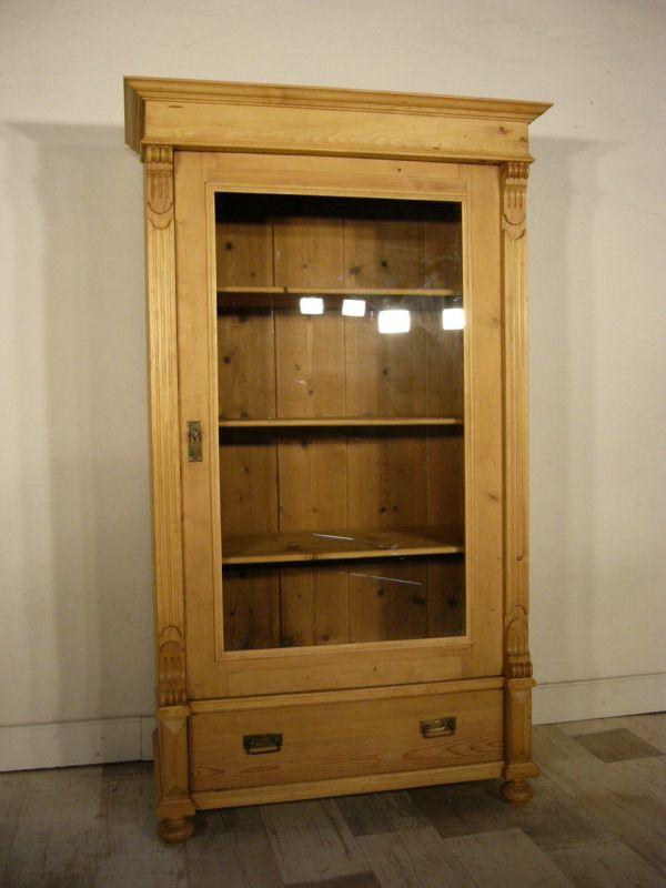 Vitrine antik 1 türig Gründerzeit Schrank restauriert um 1900 Jhd.
