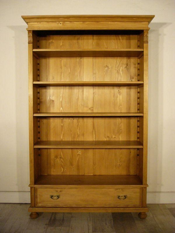 Regal Weichholz Bücherregal antik Schrank verstellbar um 1900 Jhd.