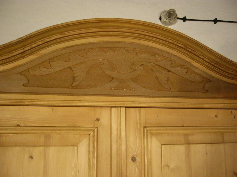 Jugendstil Dielen Schrank zerlegbar antik gigantisch Weichholz um 1900 Jhd. 3