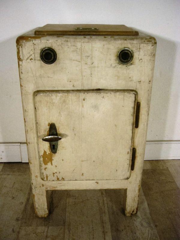 Kühlschrank Eisschrank antik Kommode um 1920 Kuriosum