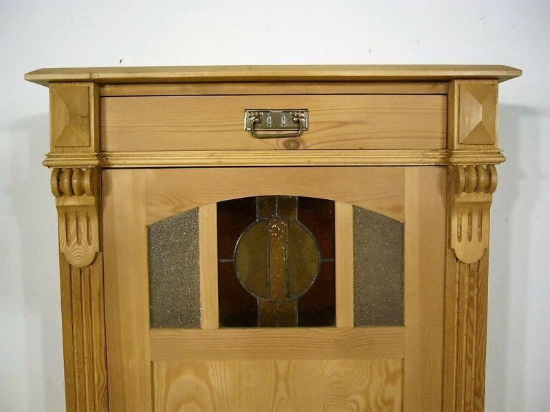 Vertiko Super Maß antik Gründerzeit Bleiglas um 1900 Jhd.
