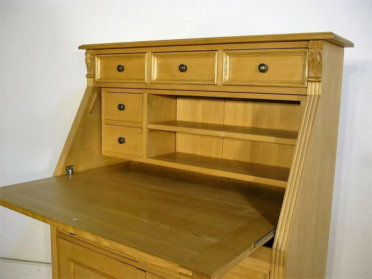 Sekretär Weichholz Jugendstil Stil massiv traumhaft Schreibtisch
